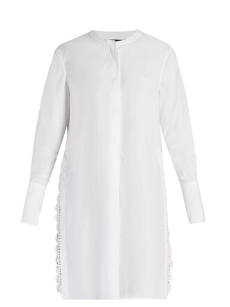 shirt crochet white top