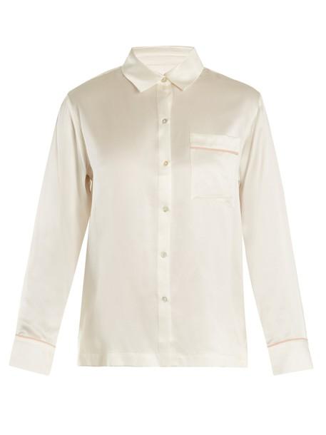 top silk satin white