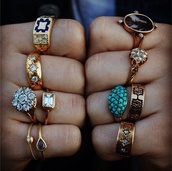 jewels,rings and tings,ringrings,bronze,aqua,onyx,diamonds,pearl,grungy,ring,gold ring