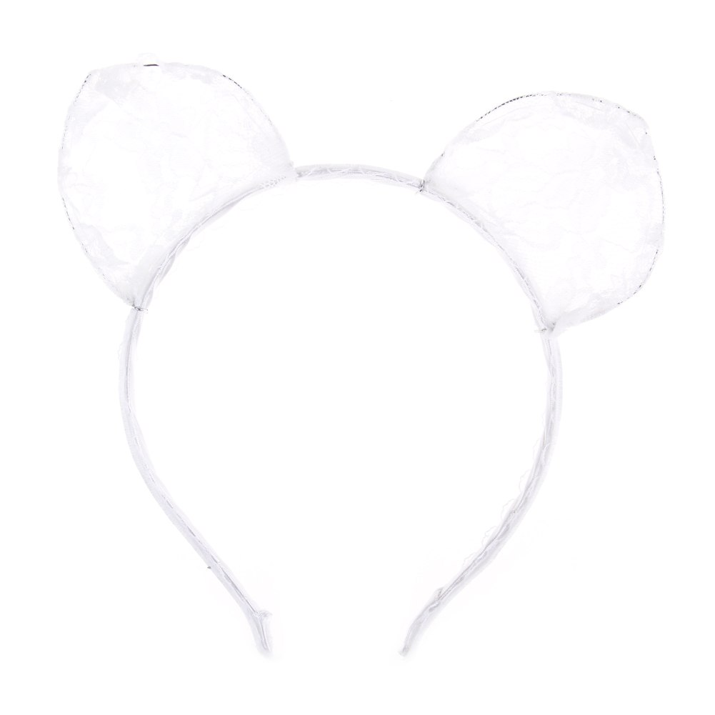 Lace cat ears headband animal party costume head hair band hair accessory