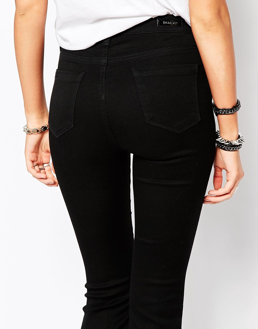 NYC Clean Wide Leg Flare Jeans at asos.com
