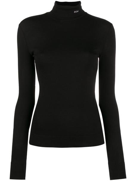 CALVIN KLEIN 205W39NYC top long high women high neck cotton black