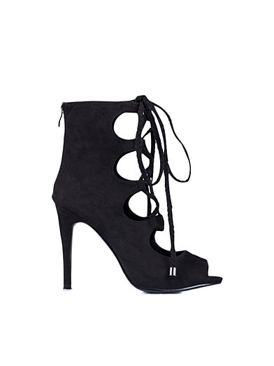 Lacing Open Toe Bootie - Nly Shoes - Svart - Festskor - Skor - Kvinna - Nelly.com