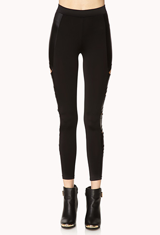 Secret Rebel Cutout Leggings | FOREVER21 - 2000072546
