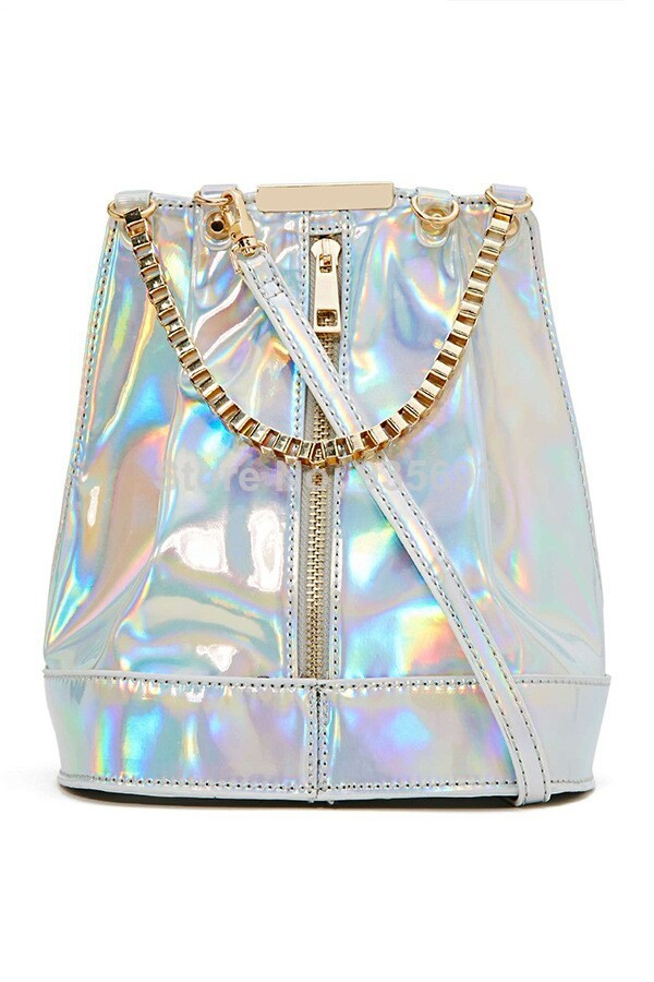 Aliexpress.com : Buy New Arrival Hologram Messenger Bags Trend Of  Fashion Street Bag Silver Laser Reflective Women bag Mirror Surface  from Reliable bags summer suppliers on Online Store 935693