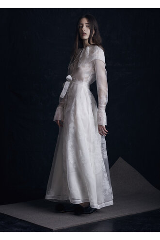 dress wedding dress ruffle dress long sleeve wedding dress romantic