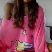 sweater,ariana grande,pink,rainbow,cute sweaters,cute