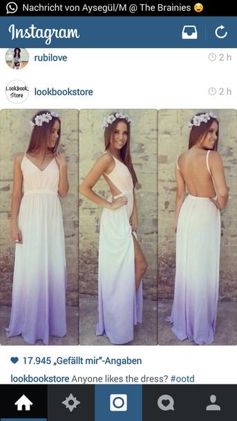 Dip Dye Cut Out Dress Ombre Dress Maxi Dress Summer Dress Light