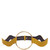 Circle-front wave saffiano-leather belt