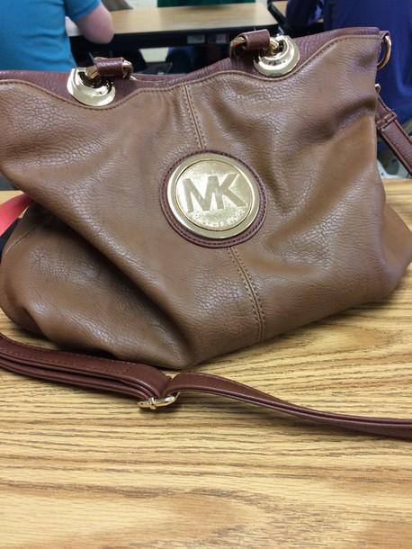 bag michael kors bag purse brown purse