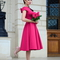 My silk fairytale: fuchsia dress