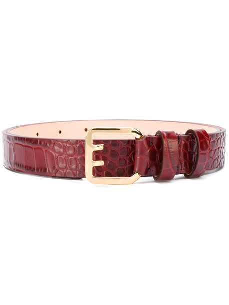 Dsquared2 women belt leather red