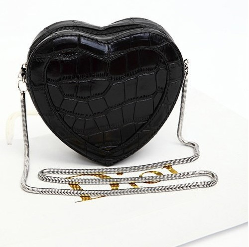 2014 new korean casual cross body bags women designer alligator pattern bags ladies shoulder bag heart