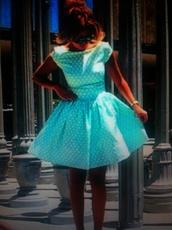 dress,terqouise,white blue,light blue