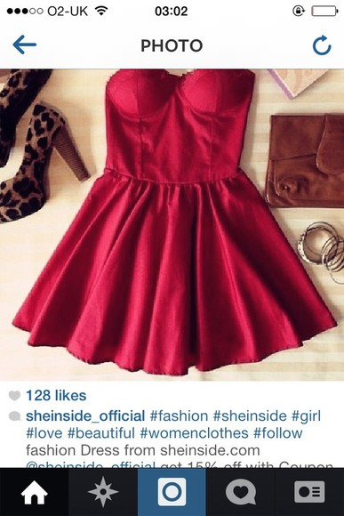 dress strapless dress red dress little red dress