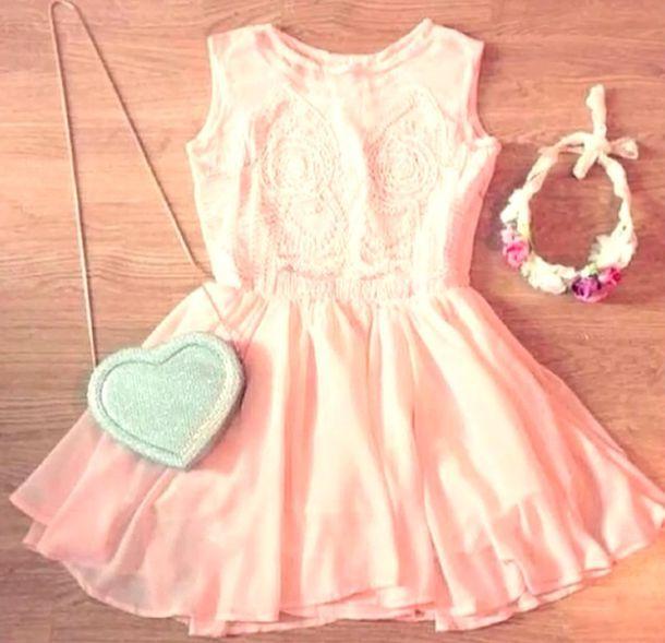 dress bag silver sparkly crossbody bag cute pastel pink pastel dresses hat summer dress pink floral kimono girly cute dress details pink dress summer dress hair accessory