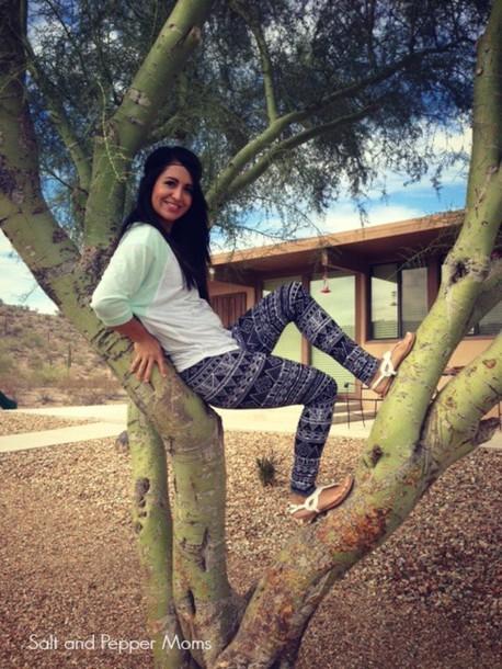 pants aztec leggings