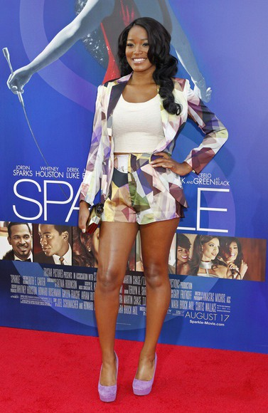 red carpet co-ords coordinates fashion police colour colours tumblr fashion runway cat walk designers awards premier fashion keke palmer celebrity style colours short colourfull tumblr shorts tumblr outfit replica