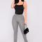 Sage gingham pants - black/white