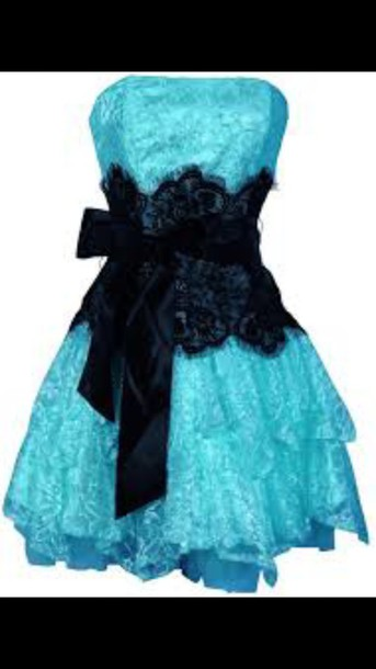 dress clothes black and blue prom dress