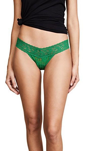 Hanky Panky thong lace green underwear