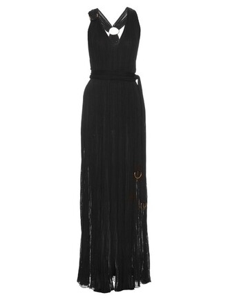 gown knit black dress
