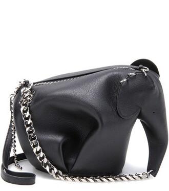 punk elephant bag shoulder bag leather black