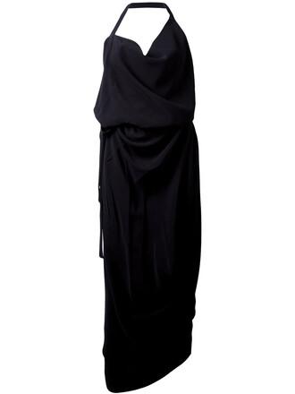 dress draped dress women draped black
