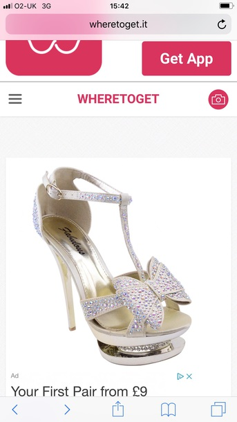 shoes where do i eat these shoes  please could you help me? they are very sparkly with lots of diamonds an
