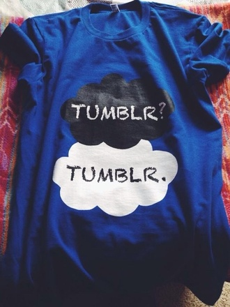 shirt tumblr amazing blue the fault in our stars tfios shirt