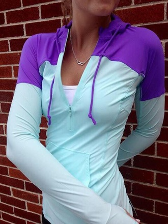 coat nike purple teal athletic running