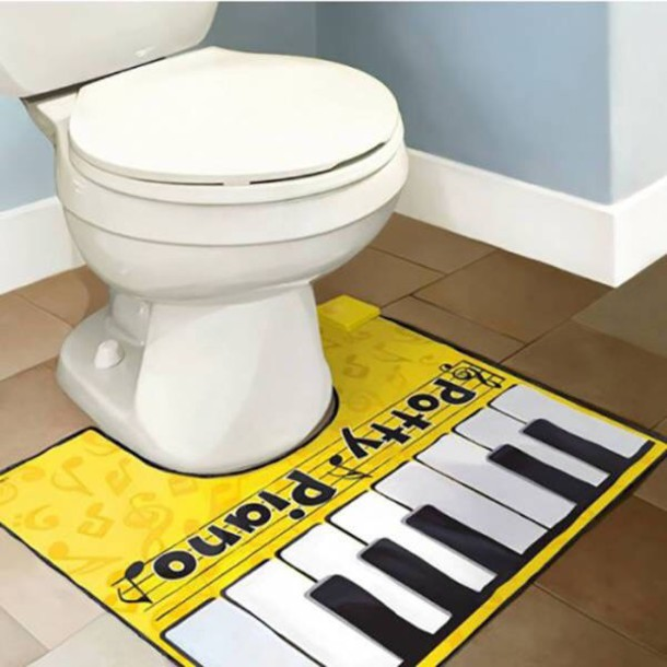 home accessory toilet sets toilet accessory house accessories piano cool yellow - Cool House Accessories