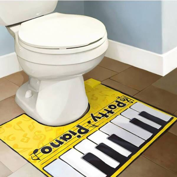 home accessory toilet sets toilet Accessory house accessories piano cool yellow
