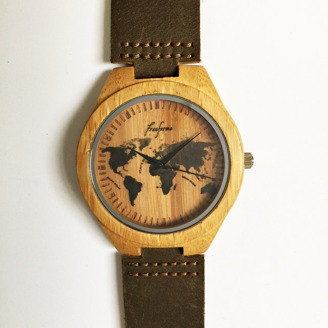 wooden watch world map watch wood watches mens watch