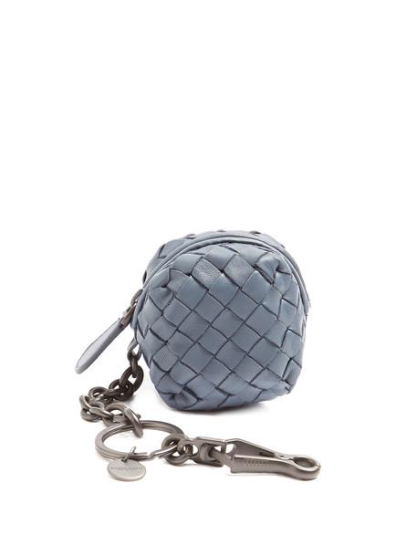 ring leather light blue light blue jewels