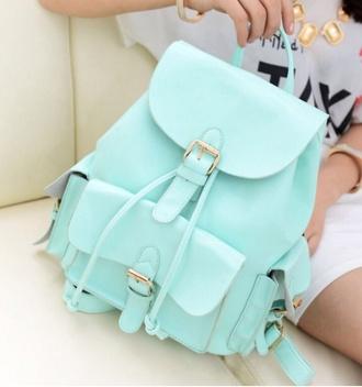 bag light blue pastel bag pastel backpack pastel backpack