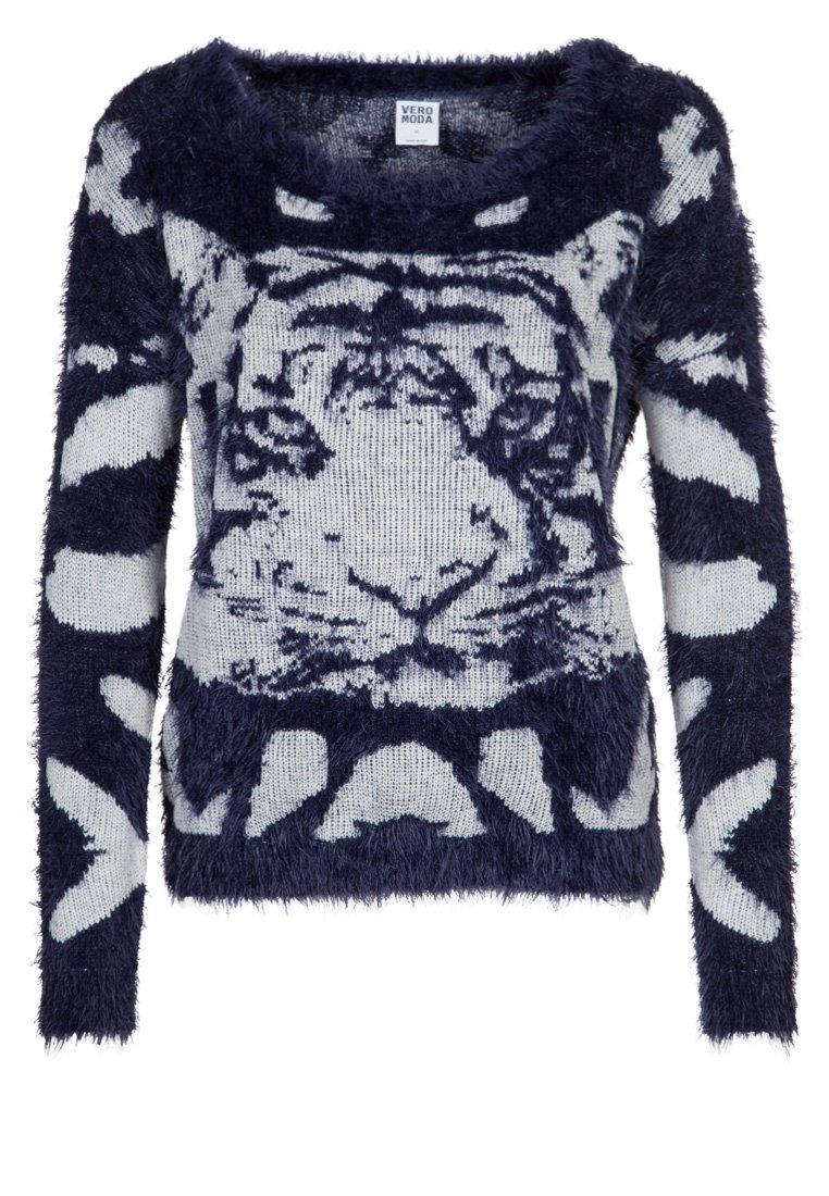 Vero Moda TIGER - Pullover - bleu - ZALANDO.FR