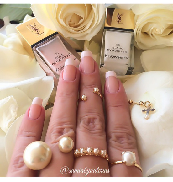 yves saint laurent nail polish french manicure ysl ring pearls