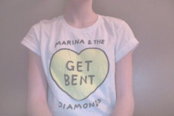 hearts white t-shirt marina and the diamonds get bent music