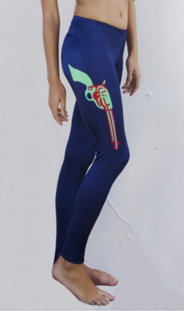 leggings gun lycra navy leggings gun print tights lycra leggings running tights running leggings active wear sportswear gun print gun leggings guns and roses hot pants