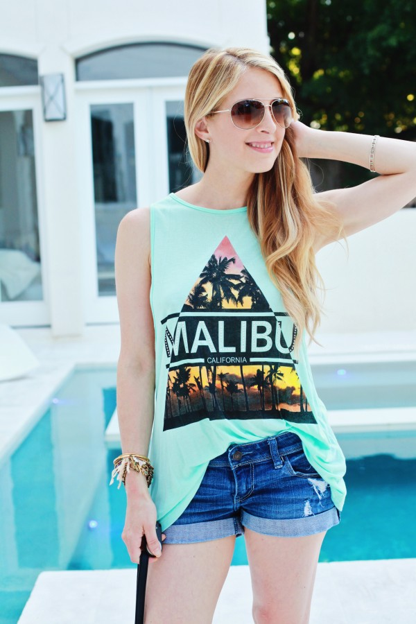 sugarlaws sunglasses tank top shorts jewels