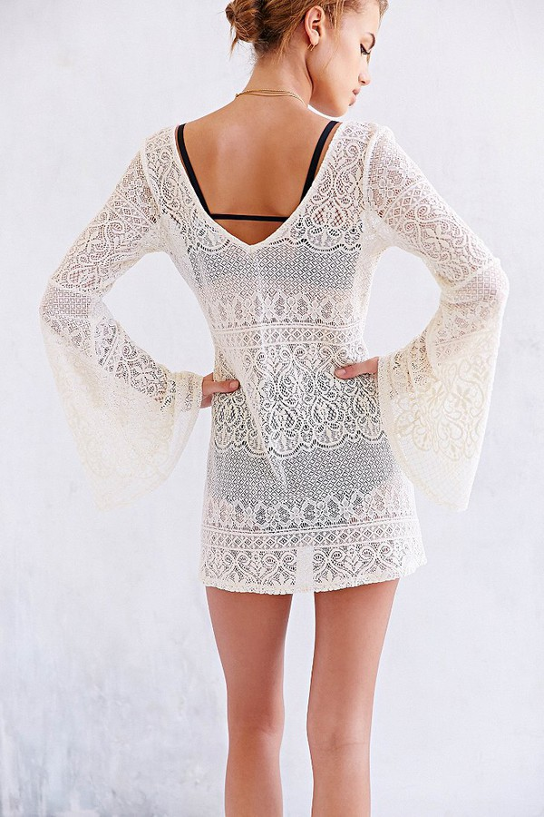 crochet dress cover up crochet dress beach dress white dress lace dress