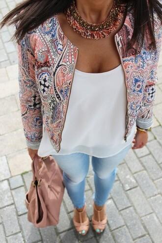 jacket baroque ornament blogger zip