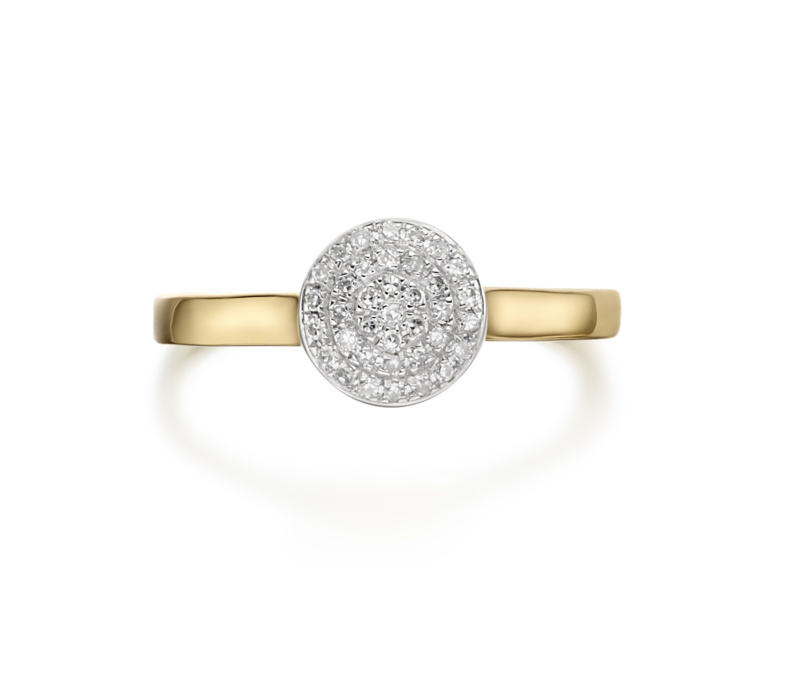 Ava button ring