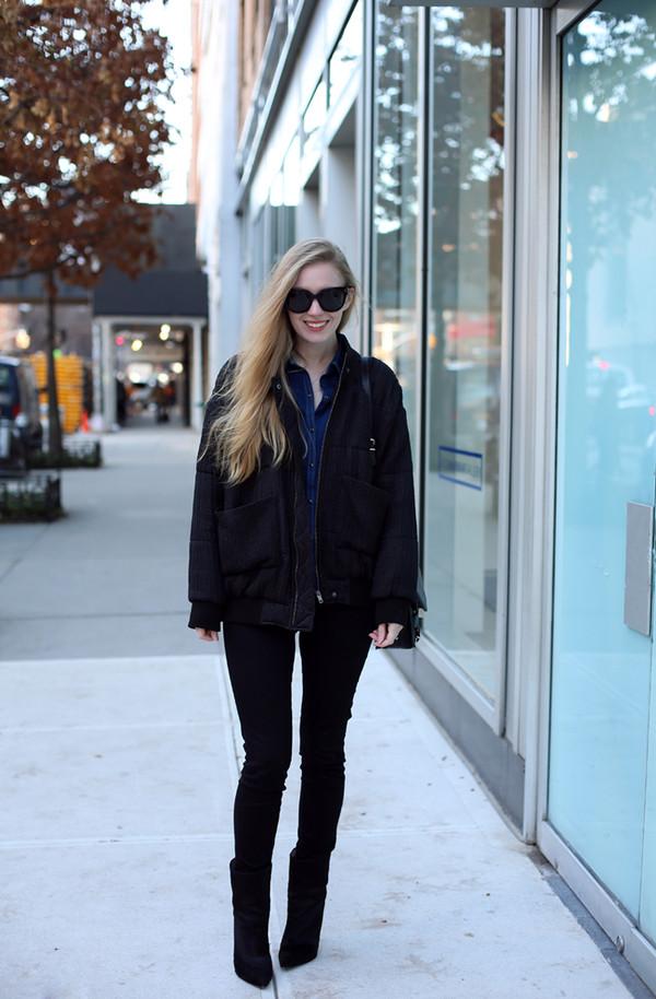 jacket shirt jeans shoes bag