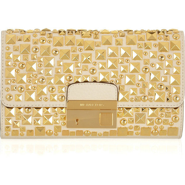 Michael Kors Studded leather clutch - Polyvore