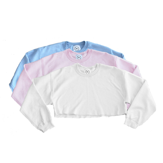 sweater sweatshirt clothes danielle guizio crewneck sweatshirt cropped sweatershirt cropped sweater cropped