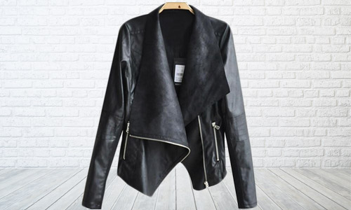 b794799bc $29.99 for a faux leather drape jacket