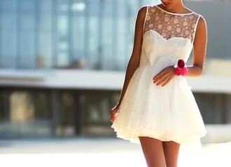 dress clothes white formal sequins white dress cute girly