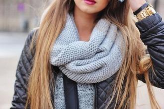 scarf grey style stylish amazing fashion cute girl clothes